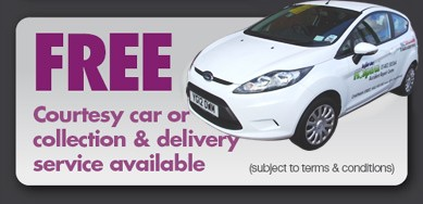 Free Courtesy Car or collection & Delivery service available